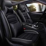 PU Deri Koltuk Örtüsü Ön Arka Tam Set ile Kafalık Bel Yastık için Evrensel 5-Seat Araba