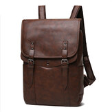 Heren vintage casual rugzak Soft Leren laptoptas