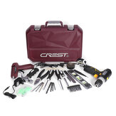 CREST Professional Red 12V Ugraded Lithium Electric Power Drill Set with Plastic Toolbox