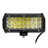 7 Inch Spot LED Work Light Bar Tri Row 3030 72W 6000K for Offroad 4WD SUV
