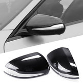 Car Rearview Mirror Cover Caps Carbon Fiber for Mercedes-Benz W205 GLC 2015-18 Left-hand Driving