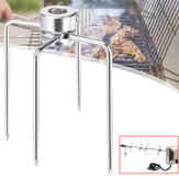 2Pcs BBQ Skewer Stainless Steel Barbeque Kebab Camping Cooking Grill Stick Fork