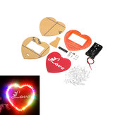 Kit de production de lampe de flux diy en forme de coeur LED DIY LED Flash Kit