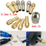 10 pcs 0.5-3.2mm 4.3mm Shank Logam Bor Chuck Collet Bits Alat Rotary dengan Sekrup