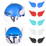 1 Pair MTB Bicycle Motorcycles Helmet Ornament Accessories Suction Cups Small Wings Decorations Helmet Not Included Not Included Helmet