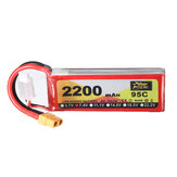 ZOP Power 7.4V 2200mAh 95C 2S Lipo Batteria XT60 Plug per RC Racing Drone