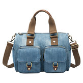 Women Denim Travel Large Capacity Handbag