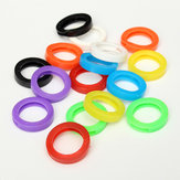16Pcs Mixed Silicone Keys Ring Hollow Caps Identifier Covers Tag Topper Indicatore