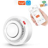 Earykong alarme de fumée Protection incendie sans fil WiFi détecteur de fumée alarme incendie fonctionne avec Tuya APP pour système de sécurité à domicile