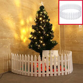 30 Pcs Mini Removable Plastic Fence Christmas Tree Decoration Fence Christmas Scene for Christmas Tree Decor