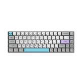 AKKO 3068-Бесшумный Механический Клавиатура 68 клавиш Bluetooth Проводной двойной режим PBT Keycap Gateron Switch Белая подсветка Игровая Клавиатура
