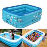 180cm Inflatable Thicken Swimming Pool Rectangle Baby Children Bathing Tub 3 Layer Pool Summer Water Fun Play Toy