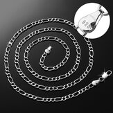 925 prata esterlina Selo Figaro colar de corrente 16 18 20 22