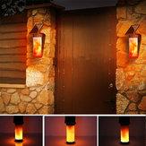 الطاقة الشمسية لهب الجدار ضوء في الهواء الطلق فناء حديقة المناظر الطبيعية مصباح 3 ضوءing وسائط
