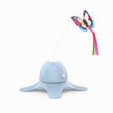 Electric Automatic Cat Toy 360° Rotation Teasing Pets-Blue/White/Pink