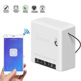 SONOFF Mini interruptor inteligente bidirecional 10A AC100-240V Funciona com Amazon Alexa Google Home Assistant Nest compatível com modo DIY permite Flash o firmware