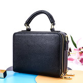 Women Genuine Leather Large Capacity Crossbody Bag Handbag