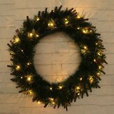 DOPROWADZIŁO Light Christmas Wreath Tree Door Wall Hanging Party Garland Decorations
