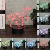 Horse Animal 3D Night Light Colorful LED USB Lamp Touch Kids Gift  LED USB Lamp