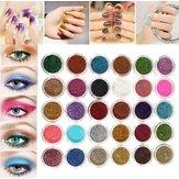 30 färger Pro Makeup Glitter Pulver Ögonskugga Pigment Eye Shadow Kosmetisk Nail Art DIY