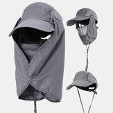 Cubierta de protección solar Visor facial al aire libre pesca Sombrero Gorra de secado rápido de verano Gorra de béisbol transpirable Sombrero