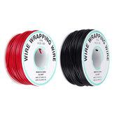30M 22AWG Siyah / Kırmızı UL 1007 Kablo Hattı PCB Tel Kalaylı Bakır Katı Tels TAMAM Hattı Elektrik Tel DIY