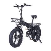 [Diretto UE] CMACEWHEEL GT20-PRO 750W 48V 10Ahx2 Doppio Batteria Bicicletta elettrica pieghevole 20x4in 45 km/h Bici elettrica a velocità massima