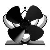 Loskii YL-201 4 Blades Fireplace Fan Stove Fan Heated Fan Heat Powered Eco Fan