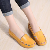 Femmes Colorful Stricing Comfy Antidérapant Casual Slip On Slippers
