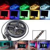200 CM SMD3528 Taśma LED Elastyczna taśma Światło Przełącznik USB Lampa PC TV Oświetlenie tła DC5V