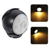 3W 5 LED 360 ° Auto Motion Sensor Night Light Wireless Batería PIR Gabinete Lámpara