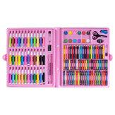 150pcs desenho infantil WaterColor Pen Kids Art Set Crayon Óleo Pintura em pastel, ferramentas de arte, suprimentos kit de papelaria para presente do aluno