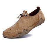 Heren suède antislip slip op casual wandelschoenen