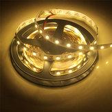 2PCS 5M SMD5050 Cinta flexible no impermeable blanca cálida 300 LED Strip Light Lámpara DC12V