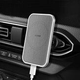 Support de chargeur de voiture à aspiration magnétique 15W Support de charge rapide sans fil Support de cadre de ventilation pour iPhone12