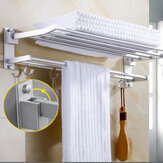Wall Mounted Towel Holder Rack Hook Hanger Bar Shelf Rail Storage Bathroom Hotel