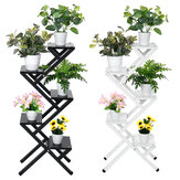 4/5層多機能鉄フラワースタンドはしご植物ディスプレイ棚バルコニー庭の装飾ホームオフィス家具