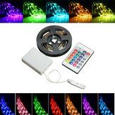 Batteria Kit di luci per strisce flessibili con cavo flessibile non infiammabile RGB LED + IR remoto DC5V