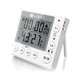 KC-70 Digital Multifunctional Dual Mode Thermometer Hygrometer Timer Alarm Clock with LCD Dis