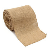 100mm Natural Jute Hessian Burlap Ribbon Roll Vintage Wedding Party Decor Craft Cinto Strap Floristry