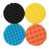 Drillpro 4pcs 7 Inch/180mm Waffle Polishing Buffing Pad Waxing Sponge Polishing for Rotary Tool