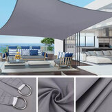 4x3m Impermeable Sun Shade Sail UV Proof Block al aire libre Canopy Patio Garden Yard Piscina Cubierta