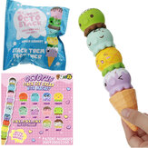 Puni Maru Zeldzame Stack Octopus Ice Cream Squishy met magneet 4CC Licensed Slow Rising Original Packaging