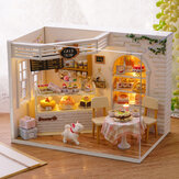 CuteRoom H-014 Cake Diary Shop DIY Dollhouse Met Muziek Cover Light House Model