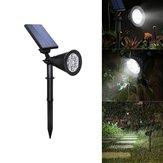 4W solare 6 LED PIR Sensore di movimento Luce d'inondazione Paesaggio all'aperto lampada per Giardinaggio