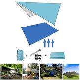Namiot odporny na wilgoć na zewnątrz namiot 210D tkanina oxford ultralekka składana markiza plandeka hamak Camping Travel parasol przeciwsłoneczny mata piknikowa