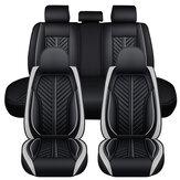 5D 5 مقاعد بو الجلود مجموعة كاملة أغطية مقاعد السيارة العالمي وسادة وسادة المقعد حامي جنون