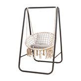Metal Hammock A-shape Frame Chair Stand Kursi Ayun Penggantian Bingkai Cotton Hammock Chair