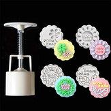 50g 4db angol mintás kerek cukrászsütemény Hold sütemény penész sütik Mooncake penész barkács sütőeszköz dekoráció