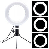 LED Ring Light Lamp 6 pouces Dimmable Fill Light avec support de trépied de bureau pour Youtube Tiktok Makeup Live Stream Vlog